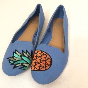 pineapple flats shoes